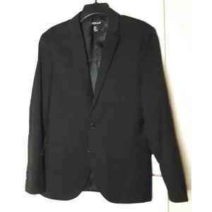 Forever 21 Men Black Boxy Blazer Lined Size Small